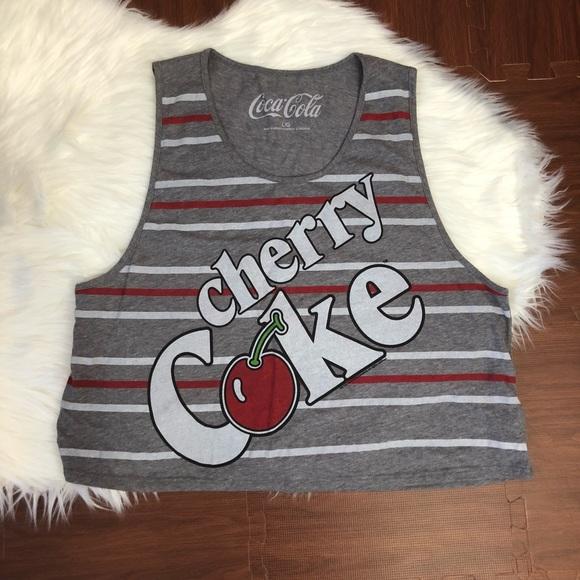 909b91b43f20d5 Coca-Cola Tops - Cherry Coke • Crop Tank